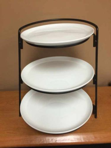 Catering - 3 Tier Plate Stand - Black Rental