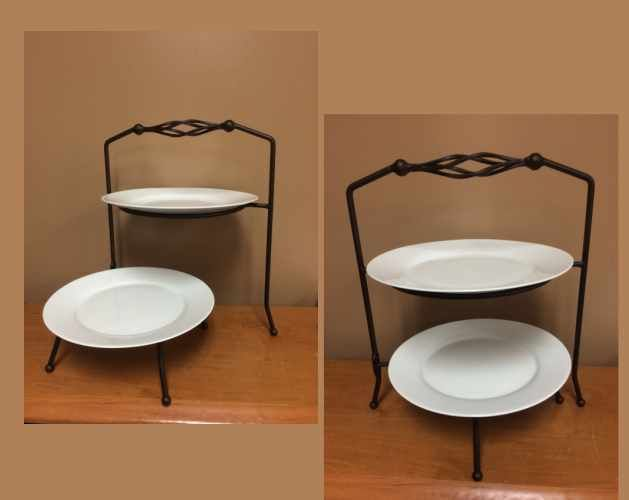 Images of 2 Tier Plate Stand - Bronze Rentals, Party & Tent Rentals of Morris County, Northern NJ