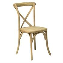 Chair - WOOD CROSS BACK CHAIR Rental