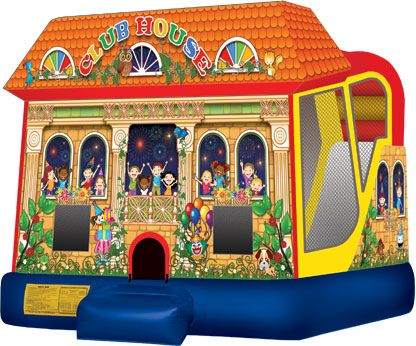Inflatable - Club House Combo Bounce House Rental