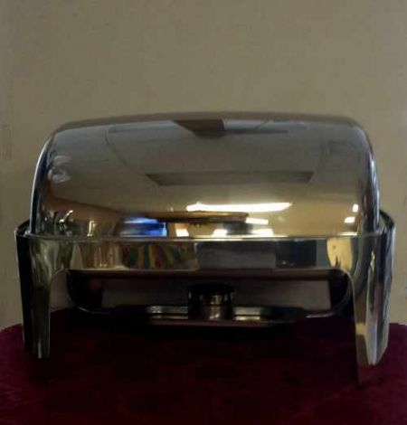 Catering - Chafing Dish, Roll Top Stainless, 8 Qt. Rental