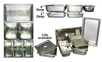 Images of Chafing Dish Pans, Stainless Rentals, Party & Tent Rentals of Morris County, Northern NJ