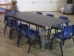 Images of Children's Table, 6' x 30