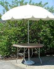 Images of Umbrella Table, Round, 48