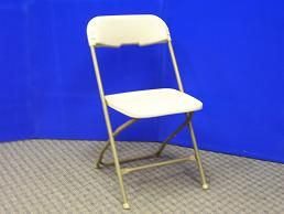 Chair - Samsonite, Ivory Rental