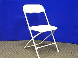 Chair - Folding Bright White Rental