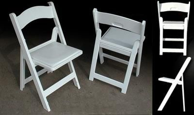 Chair - Garden, White Padded Rental