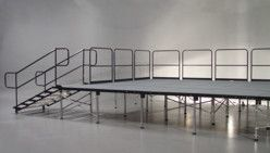 Dance Floors & Staging - Stage Railings Rental