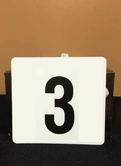Images of Table Numbers Rentals, Party & Tent Rentals of Morris County, Northern NJ