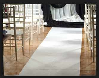 Showers & Wedding - Aisle Runner, Poly 36