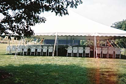 Images of 40' x 40' Pole Tent Rentals, Party & Tent Rentals of Morris County, Northern NJ