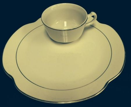 China & Dinnerware - Diplomat Snack Set with Cup Rental