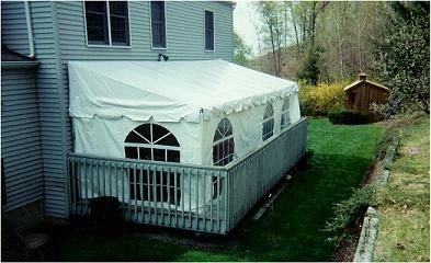 Tent - 10' x 15' - Deck Tent, White Rental