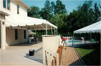 Tent - 14' x 15' - Deck Tent, White Rental
