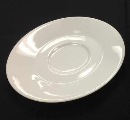 China & Dinnerware - Cafe White Saucer Rental