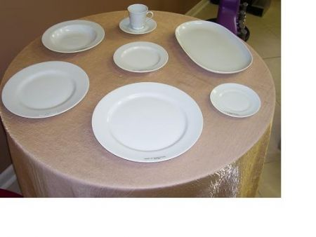 China & Dinnerware - Cafe White Dessert / Fruit Bowl Rental