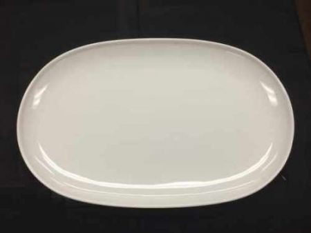 China & Dinnerware - Cafe White Serving Platter Rental