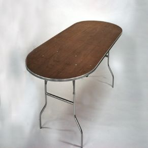 Table - Oval, 8' x 4' Rental