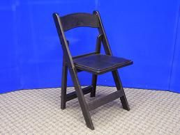 Chair - Garden, Black Padded Rental