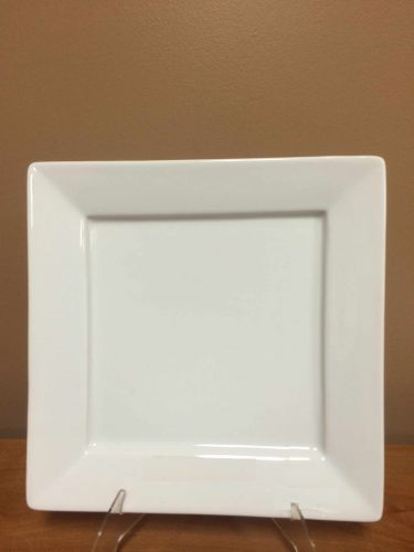 China & Dinnerware - Square White Salad / Dessert Plate Rental