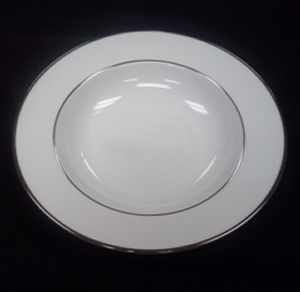 China & Dinnerware - Platinum Soup Bowl Rental