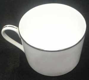 China & Dinnerware - Platinum Trim Coffee Cup Rental