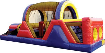 Bounce House - Backyard Obstacle Course, 30' L X 11' W X 12' H Rental