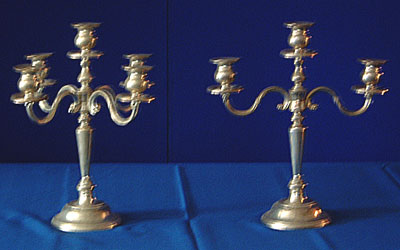 Candles & Holder - Candelabra, Five Light Rental