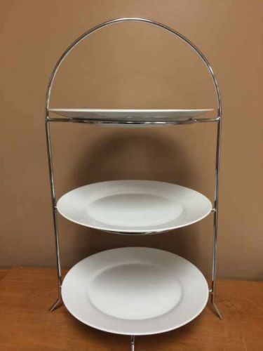 Catering 3 Tier Plate Stand Silver Al